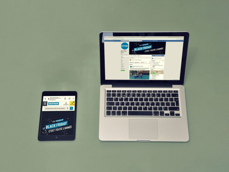 Ordinateur et tablette avec visuels Decathlon